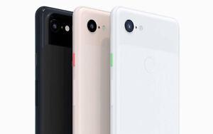 Google Pixel 3XL Unlocked Smartphone - 64GB, 128GB in White, Black, Pink