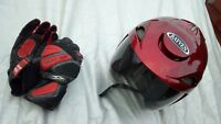 Rayven Motorcycle Helmet With Gloves