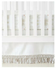 NWT $118   Serena & Lily Macrame Crib Skirt   White