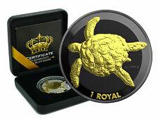 Sea Turtle Schildkröte 2020 Black Empire Edition Ruthenim Gilded 1 oz Silber
