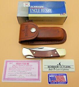 "Schrade USA made LB7 ""Bear Paw"" Lockback  Folding Knife-Sheath/Box/Papers"