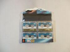 (4) TDK Microcassette MC60 Tapes