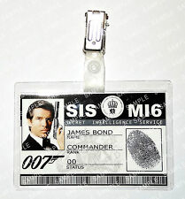 James Bond 007 ID Badge Pierce Brosnan MI6 SI5 Prop Cosplay Costume Comic Con