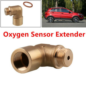 Durable 90° O2 Oxygen Sensor Angled Extender Spacer Bung Extension M18X1.5 Part