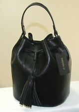 FOREVER 21 Black Vinyl Handbag / Satchel  - Drawstring - NWT