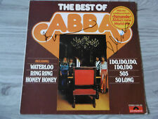 """ABBA """"Benny & Björn Ulvaeus"""" Autogramme signed LP-Cover """"The Best Of"""" Vinyl"""