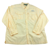 Field and Stream Long Sleeve Solid Button Up Fishing Shirt with Pockets, Size XL