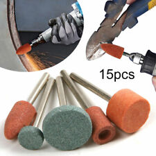 15Pcs Ceramic Stone Polishing Grinding for Rotary Die Grinder Drill Bit Tools