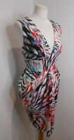 BNWT Butterfly by Matthew Williamson pattern print draped jersey dress 16 NEW