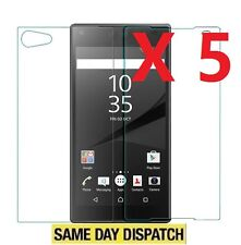 5 Front and Back Clear full body Screen Protectors Cover Film for Sony Xperia Z5
