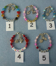 **GIFT - Personalised Children/Babies Christmas Birthday Named Bracelet**