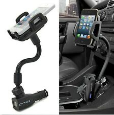 I5 2USB Car Cigarette Lighter Mount Holder Charger F Iphone 3 4 4S 5 5S 5C Ipod
