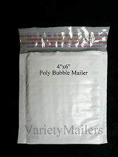 "20 Poly Bubble Shipping Envelopes Ex-Small #0000 4""x 6"" Self-Sealing Mailers"