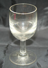 RARE Antique small drinking glass engraved DAVYS 1870 (Rummer?) Tot Measure Rum?