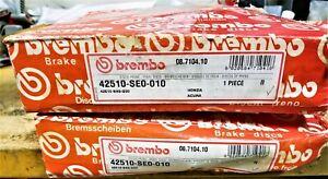 BREMBO 2 Rear Brake Rotors CIVIC PRELUDE SEDAN COUPE HATCHBACK INTEGRA