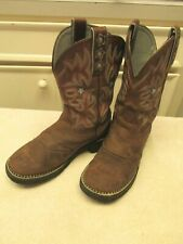 WOMEN'S ARIAT Brown Leather Stockman Cowboy Western Boots Size 8.5 B Style 16720
