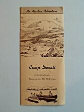 Vintage Camp Denali An Alaskan Adventure Shadow of Mt. McKinley Brochure 1966