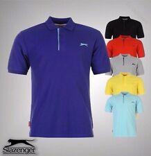 Mens Slazenger Basic Style Plain Short Sleeves Polo Shirt Top Sizes S-4XL