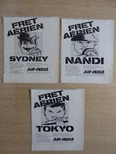 1970'S PUB AIR INDIA FRET AERIEN TOKYO SYDNEY NANDI BAGUETTE CAMEMBERT FRENCH AD