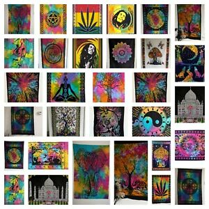 Multicolour Cotton Wall Hanging Poster Tapestry Hippie Bohemian Boho Mandala Art
