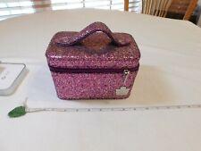 Caboodles mini glitter travel train case go getter small hard zipper purple grap