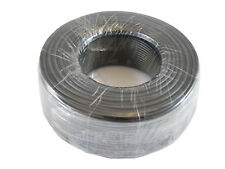Phone Cable Round 300ft Black Roll 4X1/0.4 Reel Telephone Cord Rounded 328ft