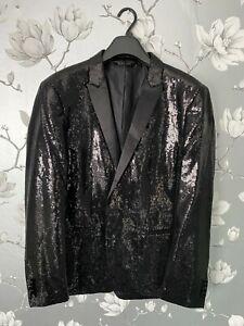 Zara Man Sequin Blazer Suit Jacket 44