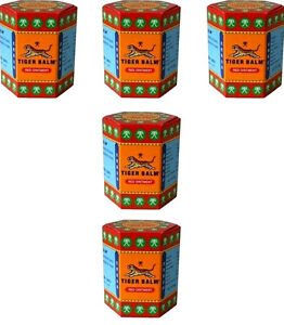 5 x 30g Tiger Balm Red muscle aches  pain relief ointment massage FREE SHIPPING