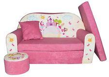 Kindersofa Pink Castle Sofa Kinderzimmersofa zum Aufklappen FORTISLINE