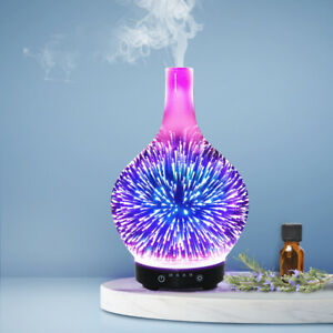 Aroma Diffuser Humidifier Aromatherapy Essential Oils Purifier Night Light 100ml