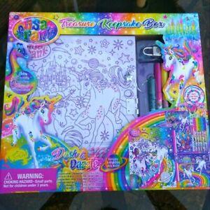 Lisa Frank Dash & Dazzle Treasure Keepsake Box Stickers Notepad Markers 90s Y2K