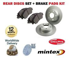FOR NISSAN ALMERA N15 GTI 1995-2000 NEW REAR BRAKE DISCS SET + DISCS PADS KIT