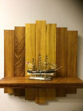 Solid Wood Iroko  Like Oak Teak Wall Shelf Handmade Offcuts