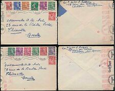 FRANCE 1941 MARNE to MOSELLE 7 COLOUR FRANKING WEHRMACHT ROLLER CENSOR..2 COVERS