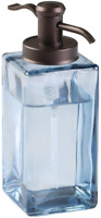 Decorative Square Glass Refillable Liquid Soap Dispenser Pump Bottle