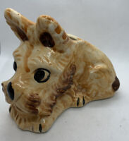 Vintage Japan Scottie Dog Planter, Brown