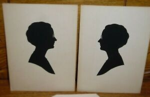 Pair Of Vintage Silhouettes - Louise Browning - 1930