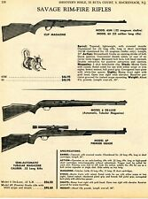 1968 Print Ad of Savage Model 65 65M, 6 Deluxe & 6P Premier Rifle