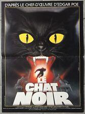 Affiche LE CHAT NOIR Black Cat LUCIO FULCI Patrick Magee MIMSY FARMER 40x60cm *