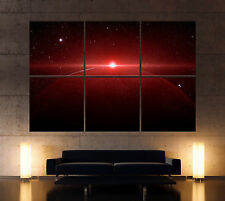 MARS SUNRISE Leinwand Bilder Planet Kunstdruck Bild Rot Schwarz Weltall Space