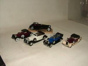 SOLIDO TOYS FRANCE 1:43 DIECAST BUNDLE OF CARS ROLLS ROYCE BUGATTI FIAT DELAGE