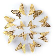 12PCS Butterfly Wall Stickers 3D Art All Room Decorations New