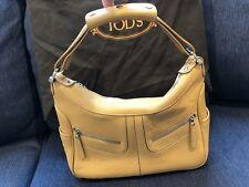 Tod's Miky Tan Leather Hobo Handbag