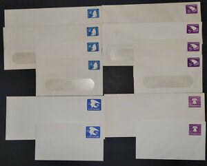 US Postal Stationery Envelope Lot of 12 Different Unaddressed