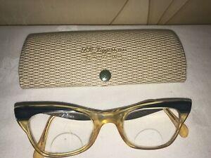 VINTAGE Ladies BIFOCAL 'CAT EYE' Eyeglasses/Spectacles WITH CASE