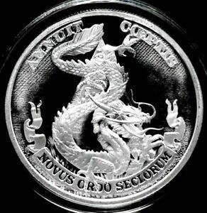 2017 Silver Shield DOLLAR DRAGON 1 oz. Silver PROOF w/ COA in Air-Tite. RARE!!!