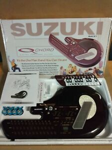 Suzuki QChord Digital Songcard Guitar Synthesizer Box Manual Model QC-1