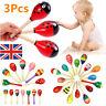 3Pcs Wooden Maraca Rattles Musical Baby Children Shaker Baby Development Toy