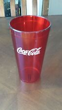 6 NEW Coca~Cola Logo Red Textured Tumblers 20oz Coke Glass, Plastic Cups