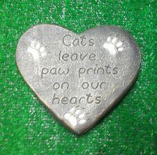Cat Large Pet Memorial/headstone/stone/grave marker/memorial paw heart